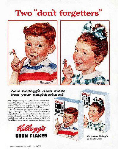 https://flic.kr/p/72cZsM | Kellogg's Corn Flakes-by Norman Rockwell--1955 | copyright- estate of Norman Rockwell