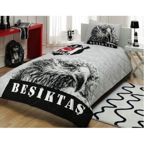 Taç Beşiktaş Şanlı Kartal Yatak Örtüsü Seti