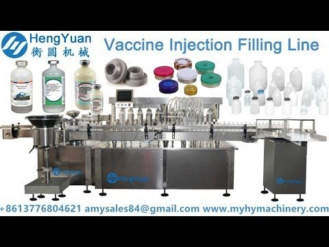 Automatic  vaccine injection liquid filling capping line