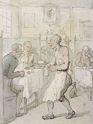A City Chop House: 19th century:  Dining in restaurants was mostly a male past time. It wasn't considered proper for ladies!