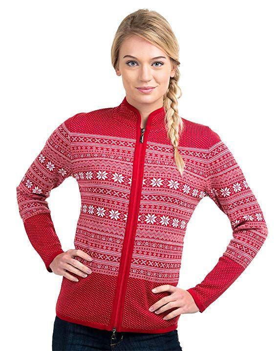 Vrikke Women\u0027s Norwegian Mia Setesdal Cardigan Sweater Christmas