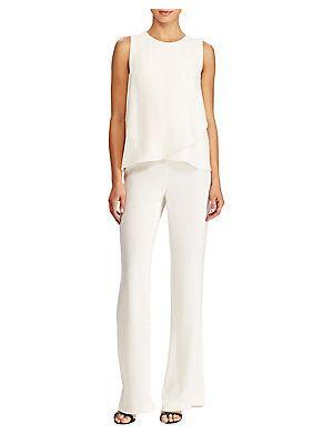 357f1e47d545 Lauren Ralph Lauren Crepe Overlay Jumpsuit