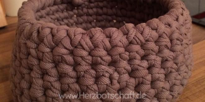 Textilgarn-Körbchen aus ReCotton oder Zpagetti