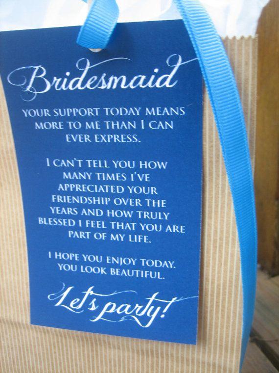 8 Bridesmaid Thank You Card for your by ThatPrettyInvitation