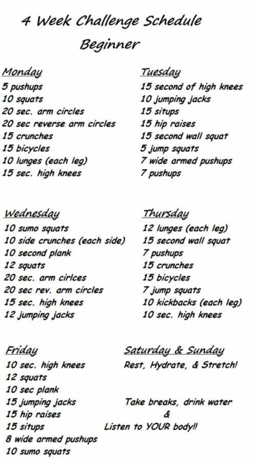 On day three of this workout.  Says beginner...challenges you enough without over doing it.