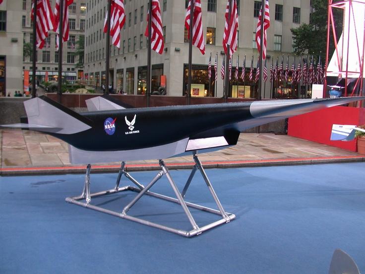 NASA X-43 (Now the Boeing X-51) on display near Rockefeller Center 2003.