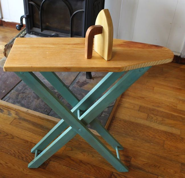 tutorial to make a child sized wooden ironing board and iron - just in case anyone wants to tackle!                                                                                                                                                                                 More