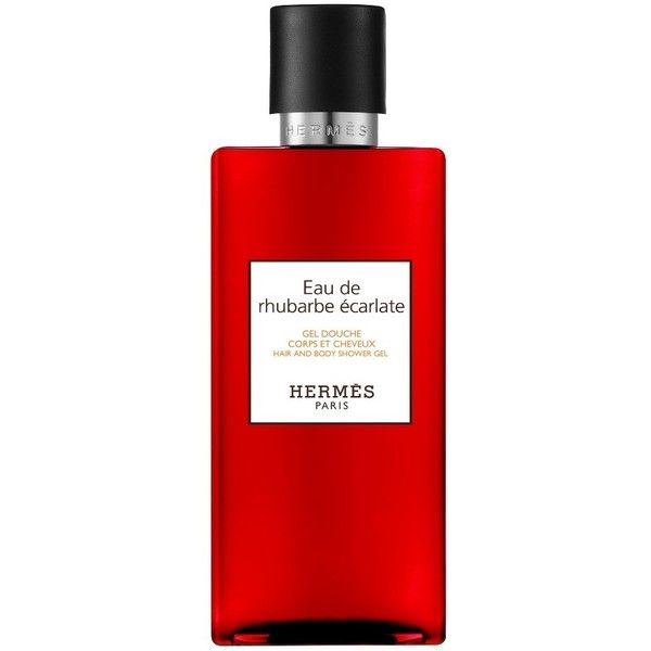 Women's Hermes Eau De Rhubarbe Ecarlate - Hair And Body Shower Gel found on Polyvore featuring beauty products, bath & body products, no color, eau de cologne, perfume cologne, cologne perfume, hermès and hermes perfume