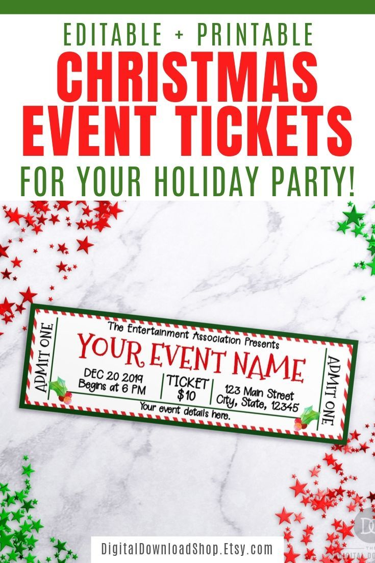 Christmas Show 2021 It Beginning Christmas Christmas Event Ticket Template Printable Tickets Editable Etsy In 2021 Event Ticket Template Ticket Template Printable Tickets