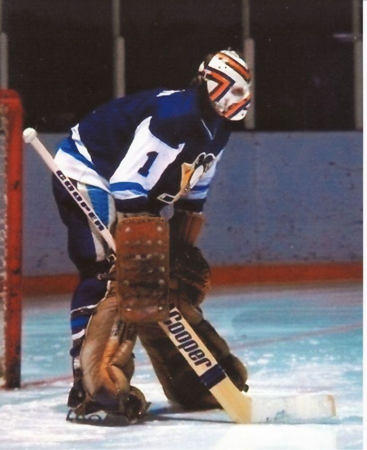 DENIS HERRON VINTAGE GOALIE MASK NHL HOCKEY PENGUINS 8X10 PHOTO