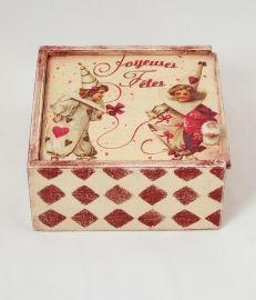 декупаж, подарочная коробка, шкатулка, подарок на день рождения.