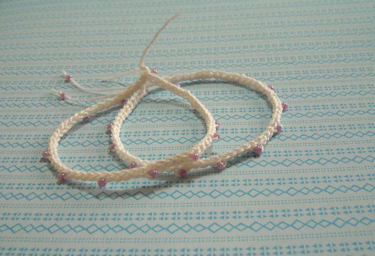 Πλεκτο Ευκολο Βραχιολακι/ Crochet Easy Bracelet Tutorial