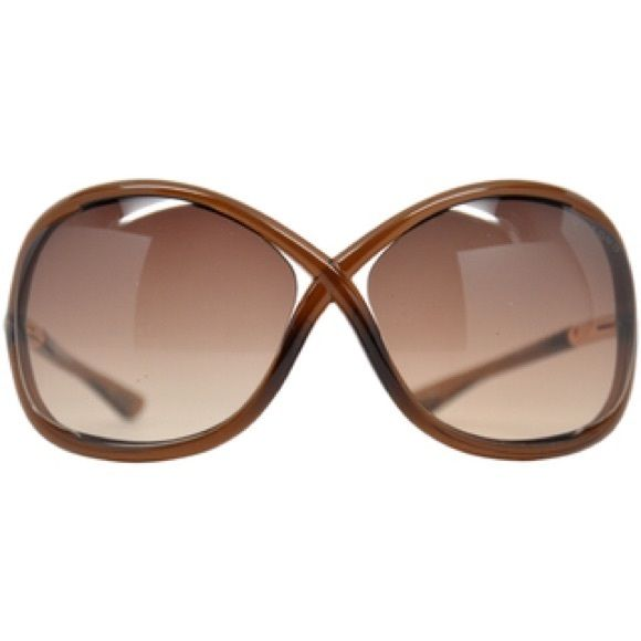 Tom Ford Whitney Sunglasses Women's TF009 Whitney 692. Brown on brown. Only worn a few times. Comes with original case. Tom Ford Accessories Sunglasses