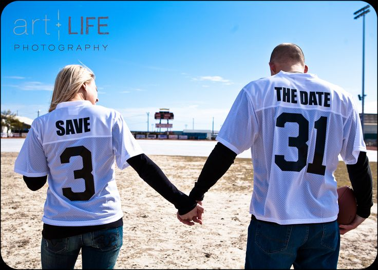 Football Jersey Save the Date, Art + Life Photography