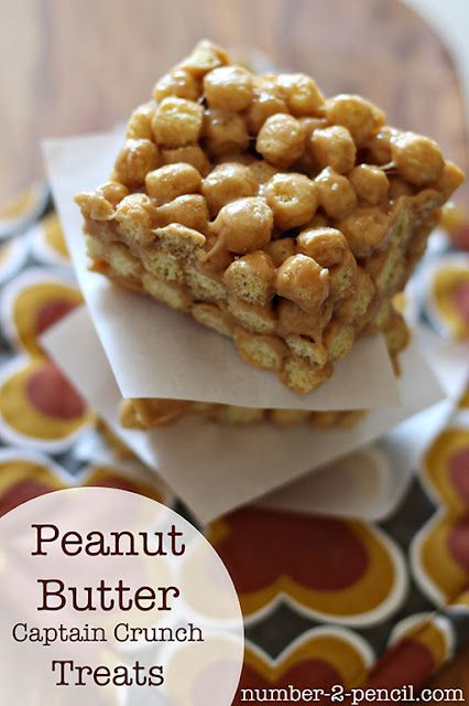 Peanut Butter Captain Crunch treats recipe - just in time for me to make for papa's bday!
