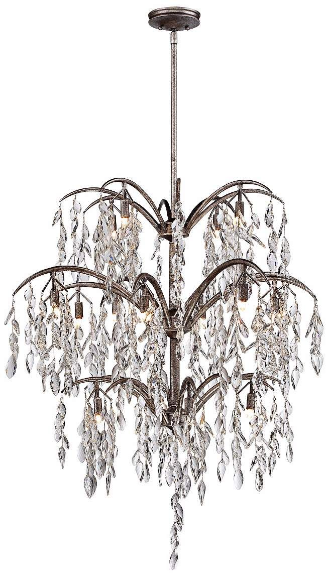 "Metropolitan Bella Flora 38 1/4"" Wide Silver Mist Chandelier - #6J986 | Lamps Plus"