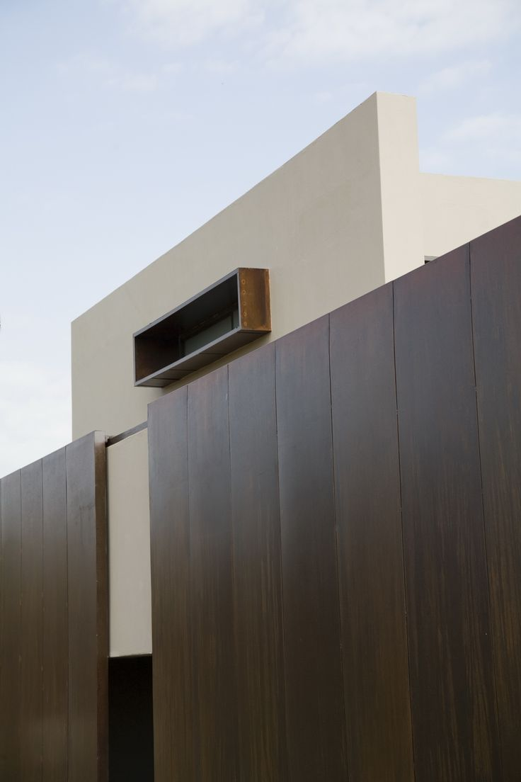 House Serengeti | Detail |  Nico van der Meulen Architects #Design #Architecture #RustedSteel #Contemporary