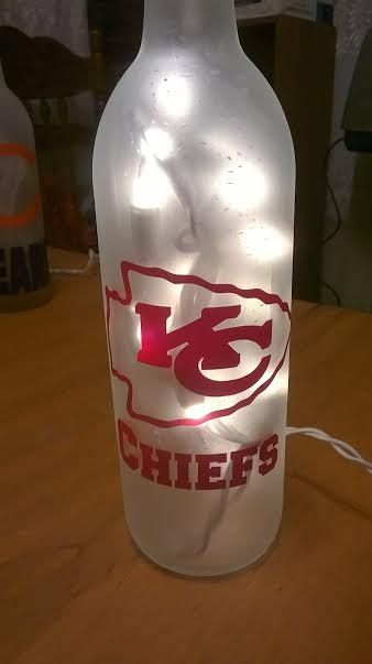 NFL Kansas City Chiefs Lighted Wine Bottle. Can be by DownHomeGift