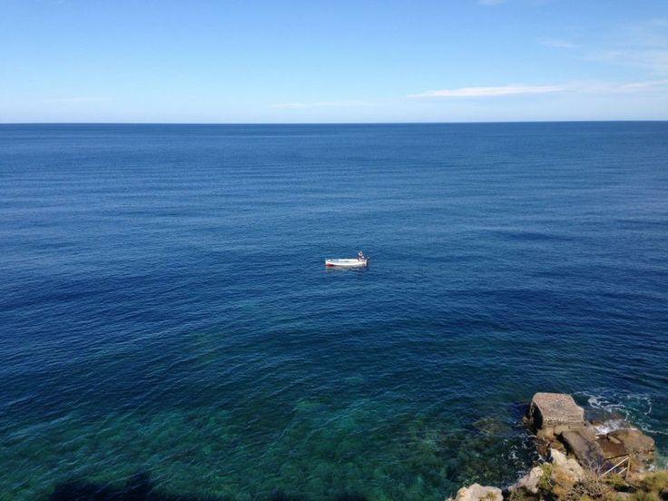 #carascohotel #deepblue #ourview #blue #sea #sky #lipari #aeolianislands #boat #fisherman