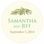Wedding Stickers - Wedding Labels - Evergreen Sticker Labels - SMALL (19 Colors)