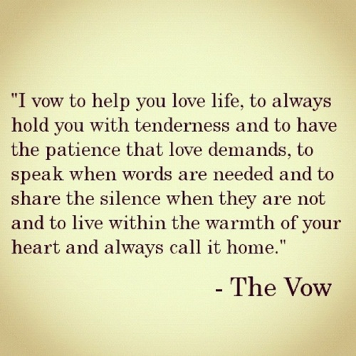 The Vow, gahh I love this movie! Most beautiful part in the Art Institute in Chicago<3