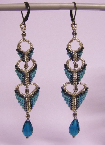 Dangle Earrings – Three step earrings- turquoise and silver – a unique product by DarkEyedJewels on DaWanda