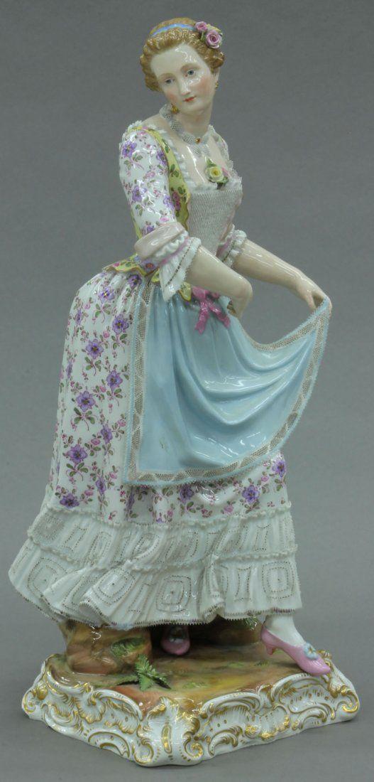Meissen Porcelain Figural Statue Of A Dancer c. Late 19th Century