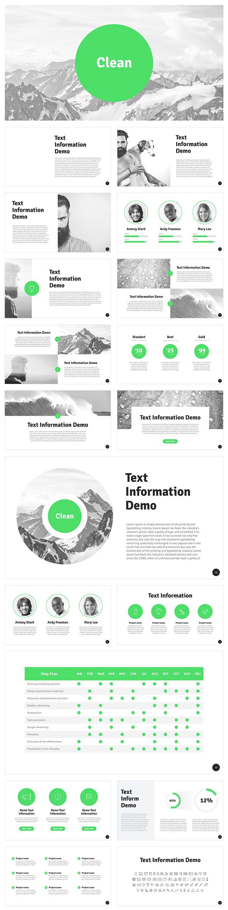 New Free Template for #Keynote https://goo.gl/cYKqV3 Professional design, clean and modern, 18 Unique slides, 16:9 HD Aspect ratio. #iwork #keynote #report #key #green #nature #modern