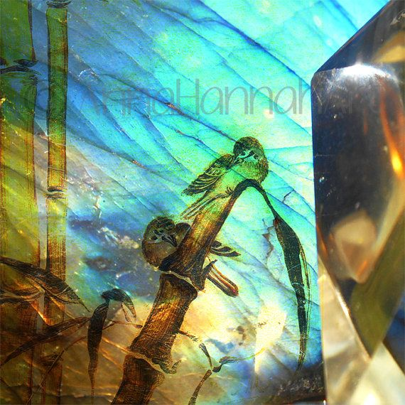 """""""In the Bamboo Grove"""" from the series """"CrystalArt""""- fragment"""