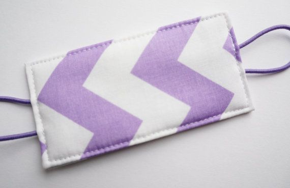 Baby Door Silencer / Baby Door Muff or Door Jammer - Purple and White Chevron via Etsy