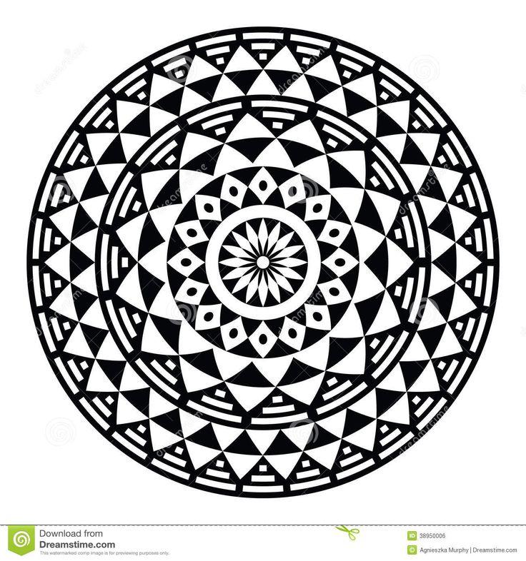 tribal-aztec-geometric-pattern-print-circle-vector-folk-round-black-white-isolated-white-38950006.jpg 1,300×1,390 pixels