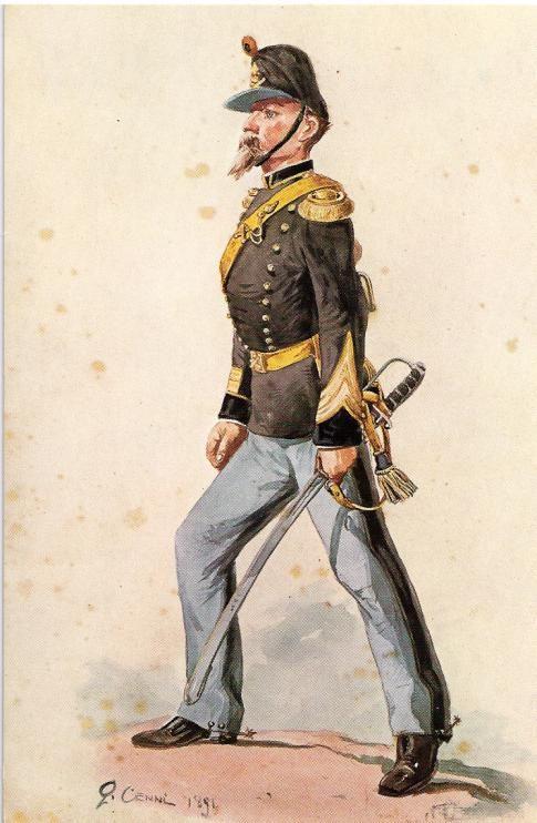 Regio Esercito - Artiglieria, Furiere maggiore, 1861