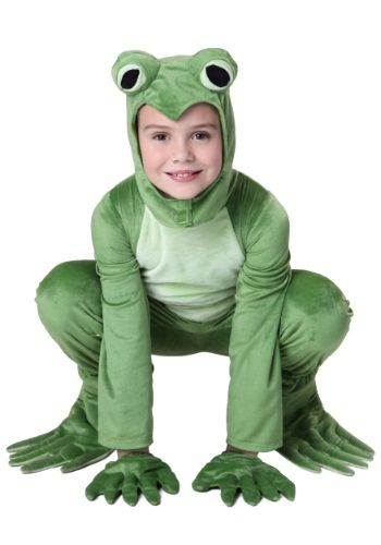 When you wear this Child Deluxe Frog Costume you might just make a ribbit or two, but that's just what frogs do!