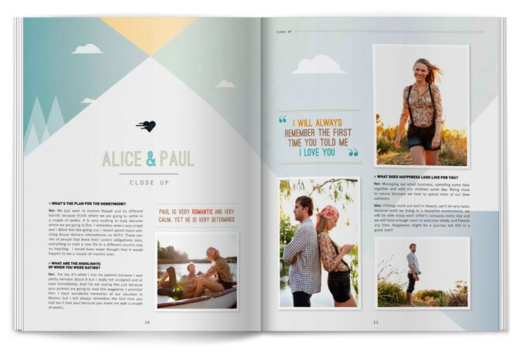 Create a wedding magazine - great for invites or programs!