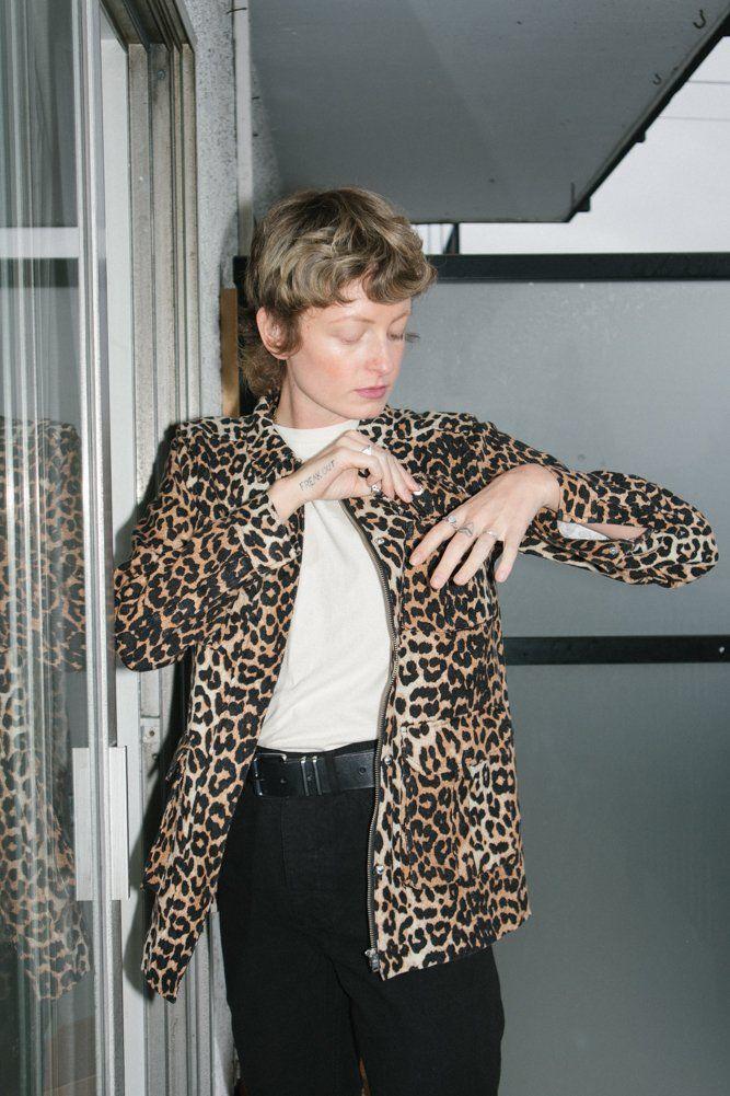 260e9274f38f8 One of a Few — Ganni Camberwell Jacket - Leopard