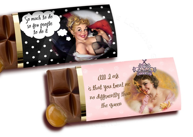 pin up Printable chocolate bar candy label by TTLGphotoANDgraphics