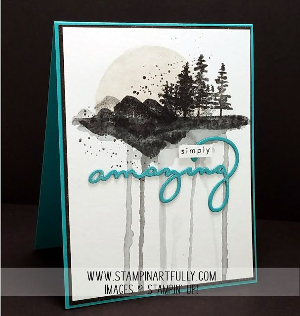 Kim Jolley's Stampin' Artfully blog: Cityscape using the Waterfront stamp set.