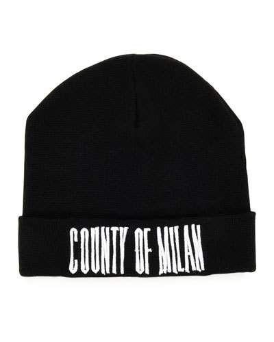 Marcelo+Burlon+Sajama+County+Of+Milan+Wool+Beanie+Black+White+ +Skullcap,+Cap,+Hat+and+Accessory