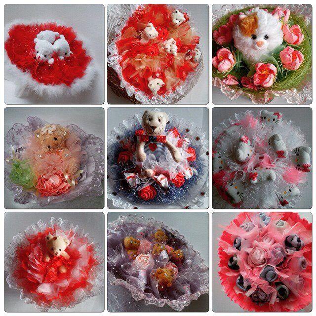 Букет из конфет, букет из игрушек, мишки, зайка, букет, сладости, подарок, конфеты