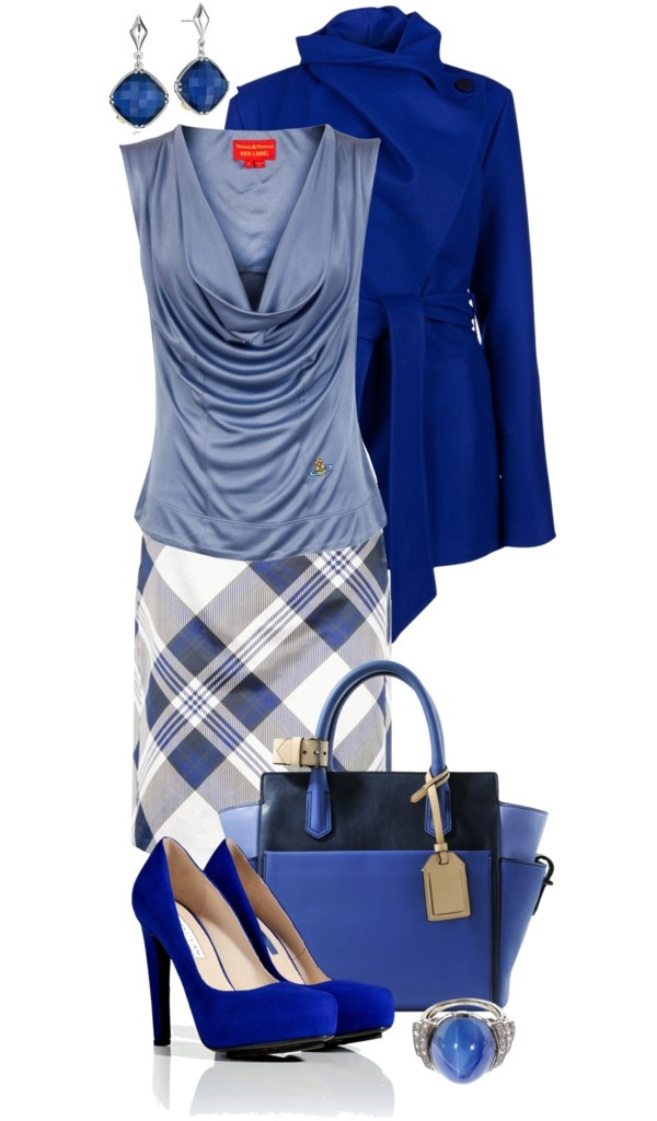sophisticated blue. #outfit #inspiration #zappos