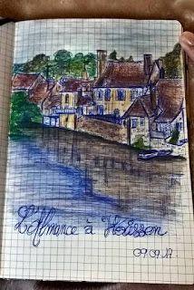 armonyann: dessin au stylo bic et crayon aquarellable
