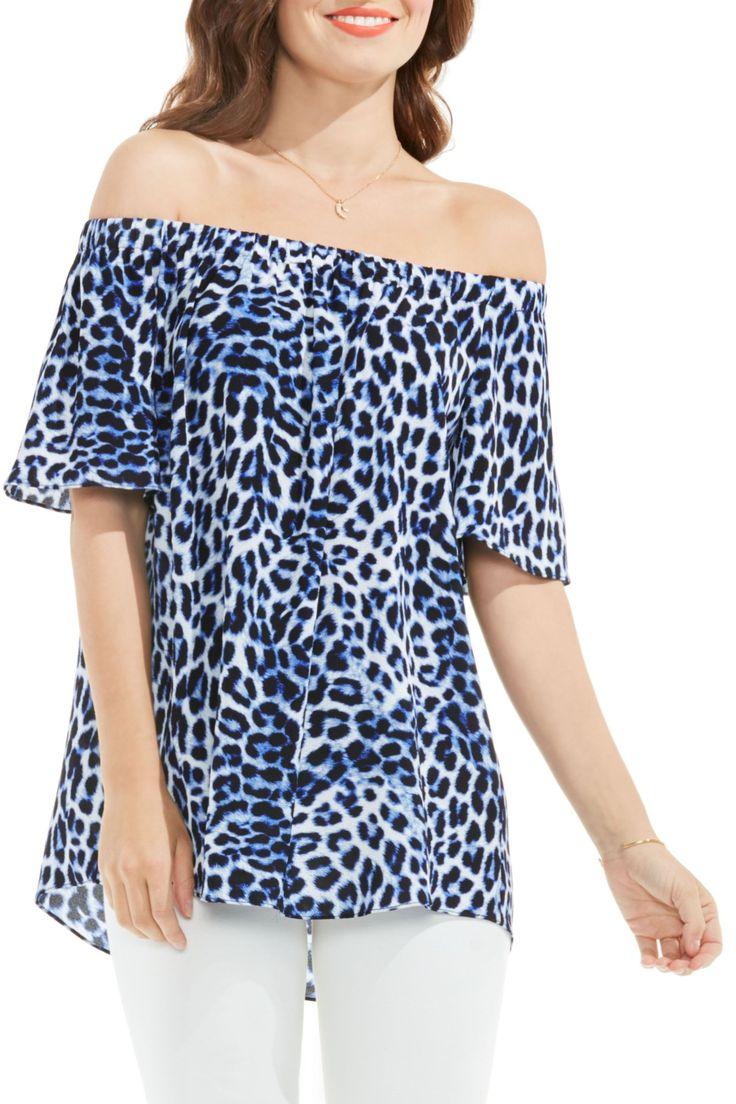Leopard Song Off the Shoulder Blouse