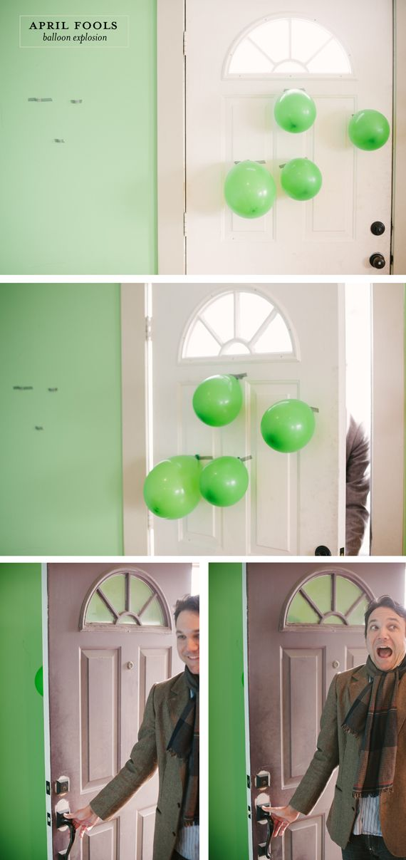 Pow, pow, pa-pow! Love this. | April Fools Balloon Explosion Joke by A Subtle Revelry