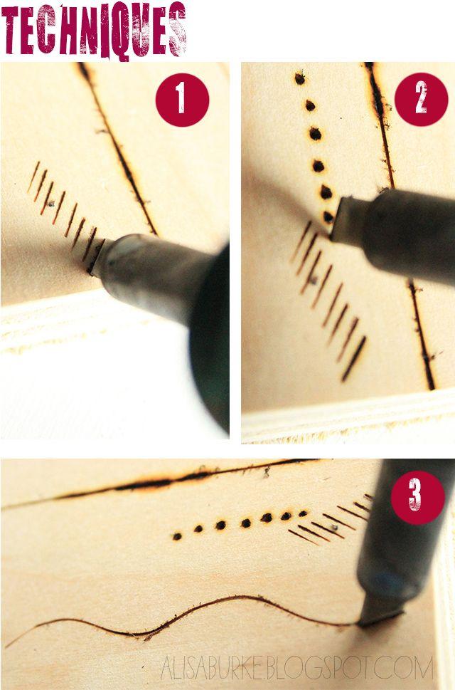 DIY woodburning tips...walking sticks, the cross-over bridge...Craftsman...