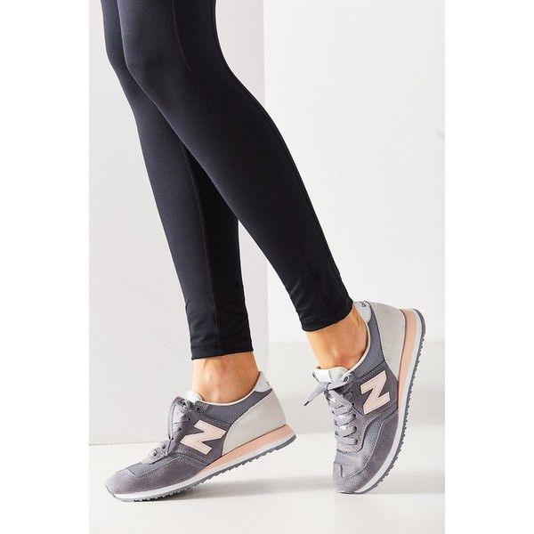 New Balance 620 Capsule Running Sneaker ($75) ❤ liked on Polyvore featuring shoes, grey, new balance, grey shoes, traction shoes, gray shoes and new balance shoes
