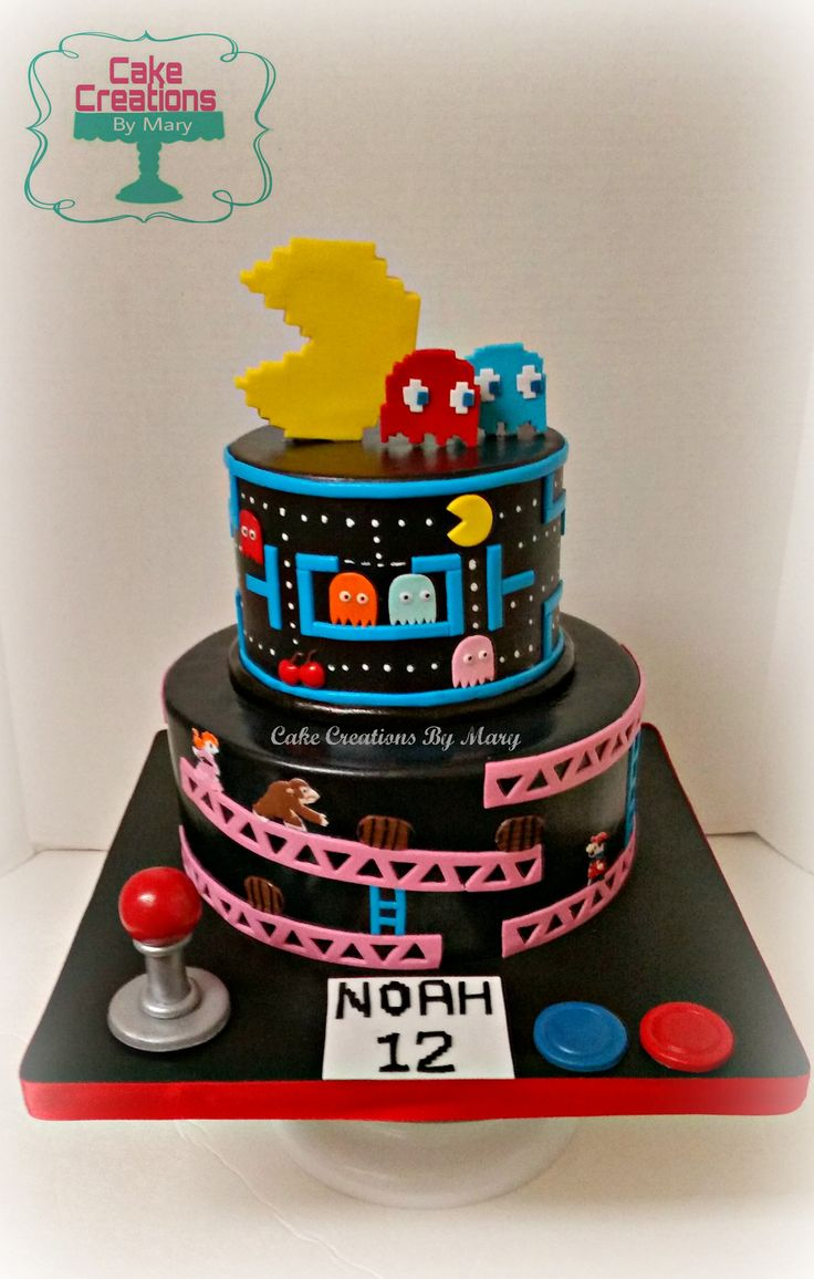 Best 25 Video Game Cakes Ideas On Pinterest Pac Man