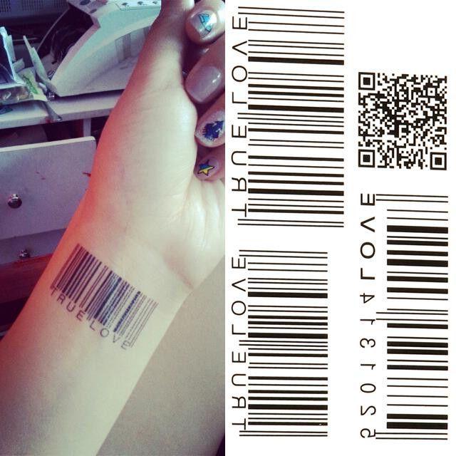 Bar Code Temporary Tattoo
