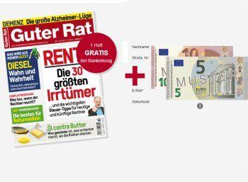 """""""Guter Rat"""": Sechs Ausgaben für 15,60 Euro mit Scheck über 15 Euro https://www.discountfan.de/artikel/lesen_und_probe-abos/guter-rat-sechs-ausgaben-fuer-1560-euro-mit-scheck-ueber-15-euro.php Die Zeitschrift """"Guter Rat"""" ist jetzt für kurze Zeit in einem attraktiven Aktionsbundle zu haben: Die sechs Ausgaben kosten 15,60 Euro, im Gegenzug erhält der Leser einen Scheck über 15 Euro. """"Guter Rat"""": Sechs Ausgaben für 15,60 Euro mit Scheck über 15 E"""