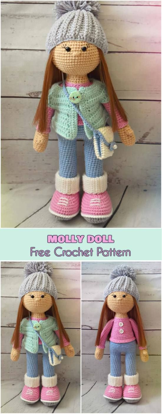 Molly Doll - Crochet Toy [Free Pattern] Amirugumi and Softies #crochet #amigurumi #freepattern