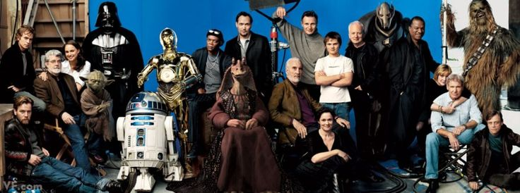 STAR POWER Every living—and mechanical—Star Wars star ever? May the photo's force field be with you! From left: Ewan McGregor, Hayden Christensen, master and commander George Lucas, Natalie Portman, Yoda, Darth Vader, R2-D2, Anthony Daniels as C-3P0, Samuel L. Jackson, Jar Jar Binks, Jimmy Smits, Christopher Lee, Liam Neeson, Pernilla August, Jake Lloyd, Ian McDiarmid, General Grievous, Billy Dee Williams, Carrie Fisher, Harrison Ford, Peter Mayhew as Chewbacca, & Mark Hamill by Annie…